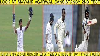 Highlights India Vs South Africa 2nd Test Day 1 2019 SA VS IND 2nd Test Day 1