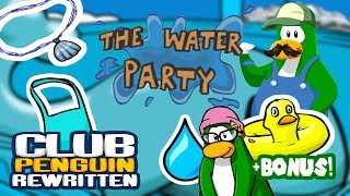 Luigi Plays : CLUB PENGUIN REWRITTEN WATER PARTYYY!!!! WALKTHROUGH + BONUS AUNT ARCTIC!