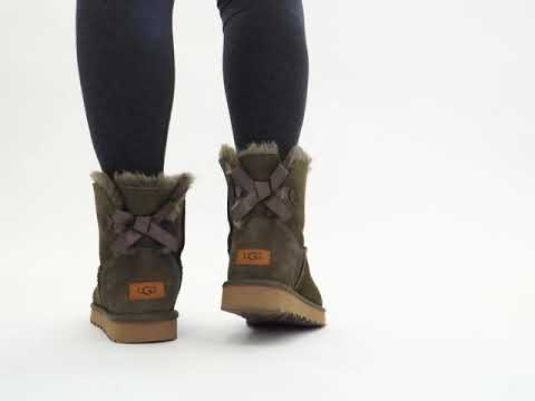 | Shuperb™ Ugg MINI BAILEY BOW Ladies Sheepskin Boots Eucalyptus Spray