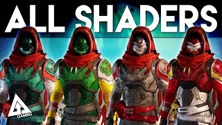 Destiny The Taken King ALL SHADERS!