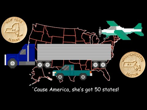 50 States Song - With Mr. R. & Dick and Jane Educational Snacks - The Kids' Picture Show