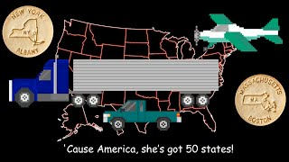 50 States Song - With Mr. R. & Dick and Jane Educational Snacks - The Kids