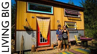 World-Traveling Couple's Tiny House in Sustainable Community