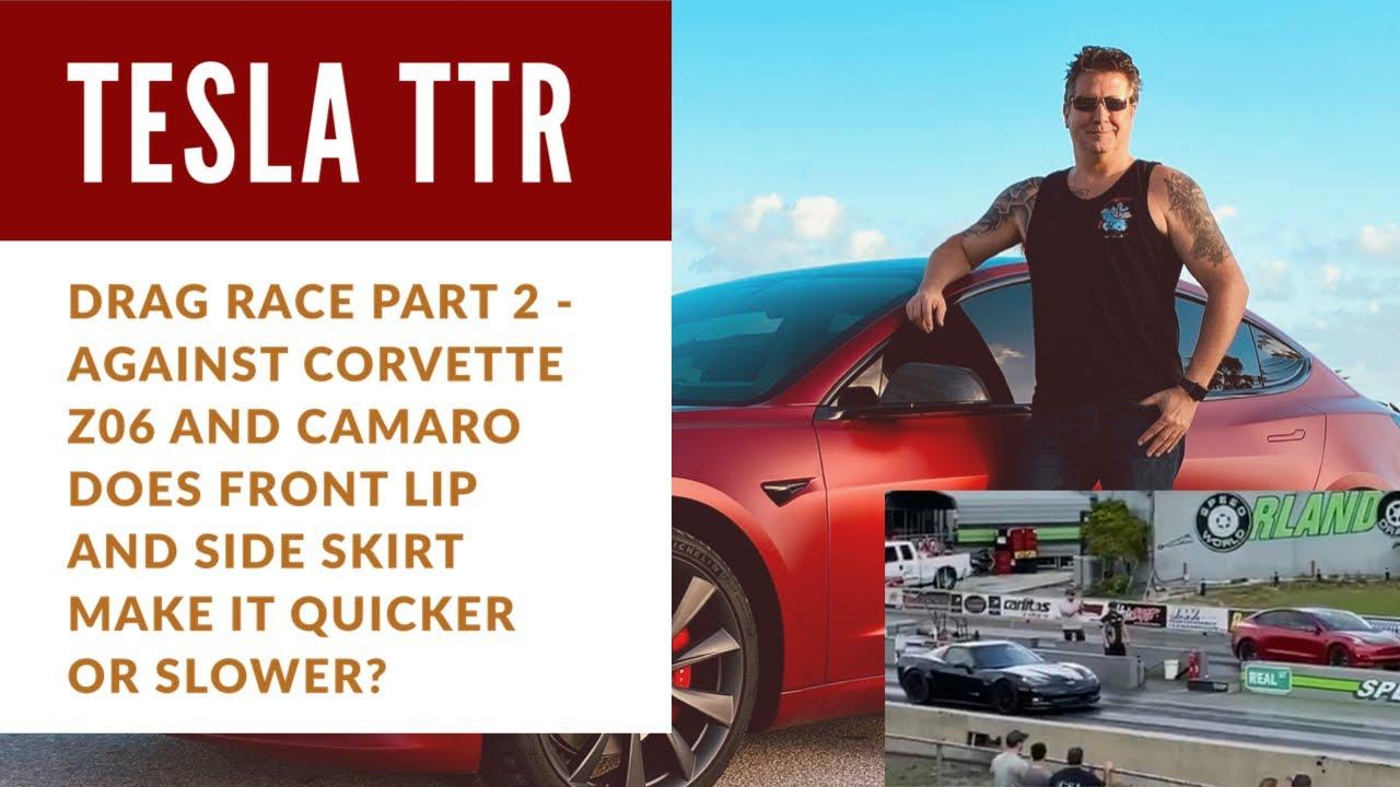 Tesla Model 3 Performance Drag Race vs Corvette Z06 ...