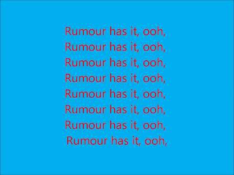 Adele - Rumour Has It with lyrics