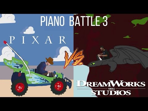 PIXAR vs DREAMWORKS - Piano Battle 3 MashupMedley ft Samuel Fu