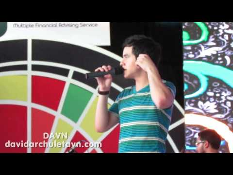 David Archuleta does Stomping The Roses soundcheck