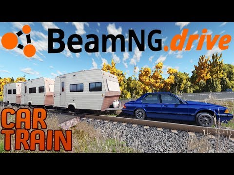 Hillbilly Train Hauling - Can A Car Become A Train? - Car Side Ripper Mod - BeamNG Drive