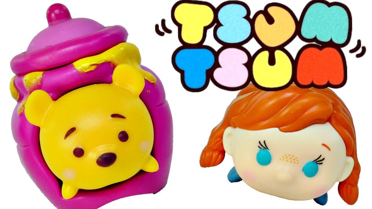 Coloreando El Tsum Tsum De Minnie Aprende A Colorear: Tsum Tsum Paquetes Misteriosos Para Apilar Disney Frozen