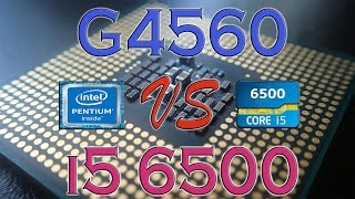 g4560 vs i5 6500 benchmarks gaming tests review and comparison kaby lake vs skylake