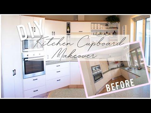 DIY Laminate Kitchen Cupboard Makeover 2019
