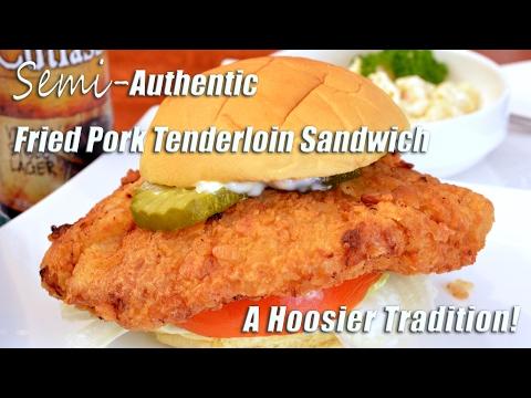 Fried Pork Tenderloin Sandwich | Hoosier Favorite