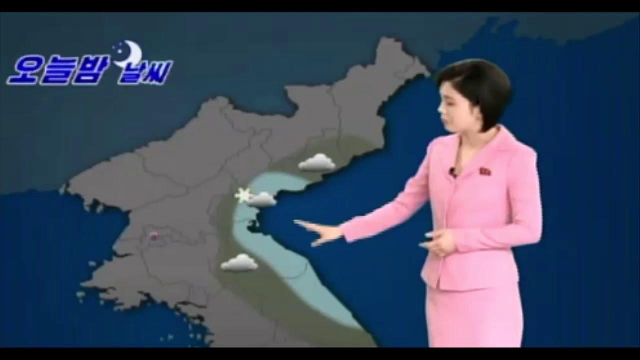 朝鮮中央TV   3/6   お天気コーナー   KCTV  weather forecast