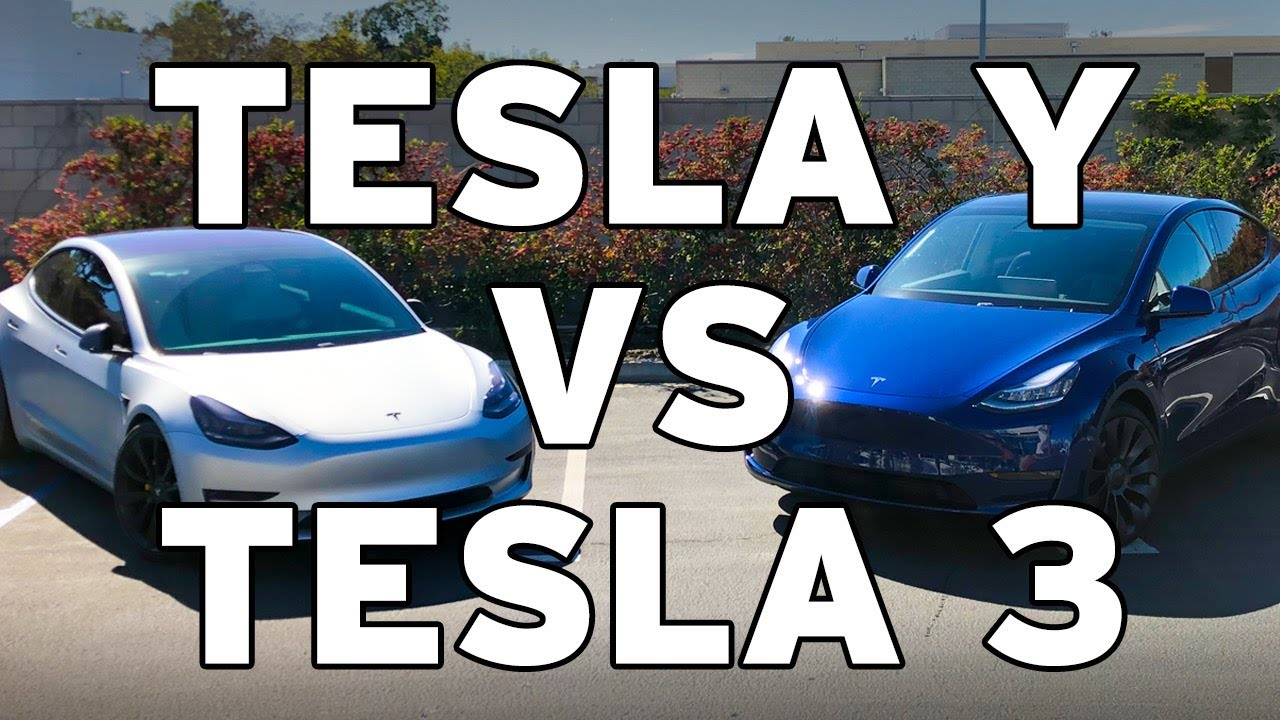 Tesla Model Y Vs. Tesla Model 3 Comparison - YouTube
