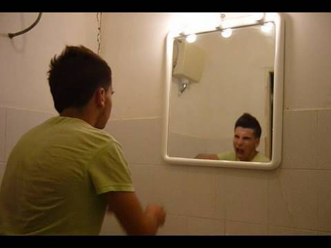 Creepy grudge ghost in the mirror scary