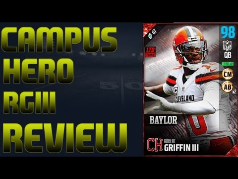 Campus Hero Robert Griffin III Player Review | Is he Like Mike? | Madden 17 Player Review