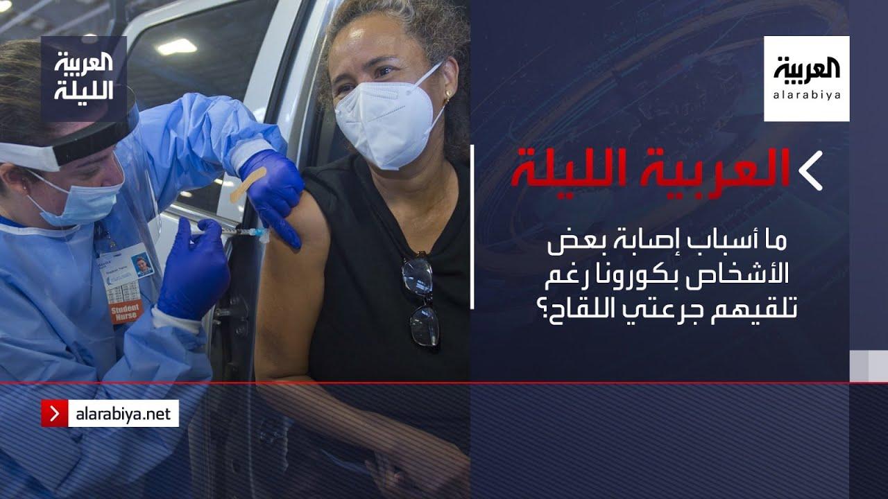 نشرة العربية الليلة | ما أسباب إصابة بعض الأشخاص بكورونا رغم تلقيهم جرعتي اللقاح؟  - 23:58-2021 / 4 / 15