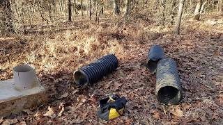 Adding culvert pipe extension & controlling water on your land