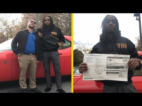 Quavo Migos Drops Money On New Hellcat! IT CAME WITH A BLUNT!