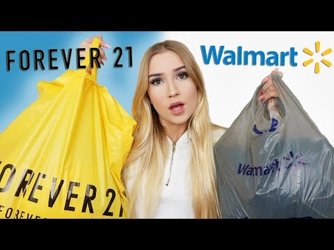 $100 OUTFIT CHALLENGE | Walmart VS. Forever 21!!