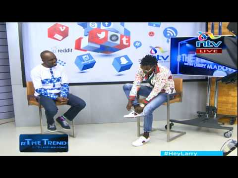 Willy Paul removes his socks on national TV