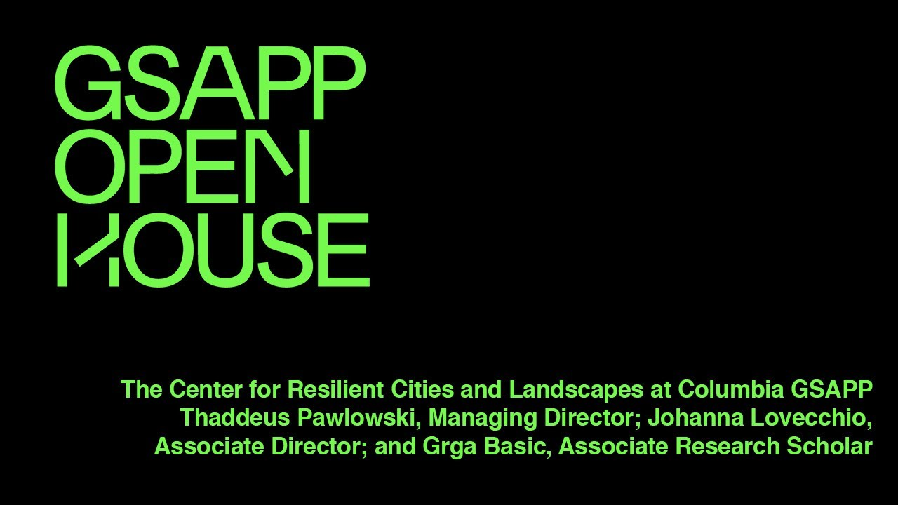 Center for Resilient Cities and Landscapes Overview