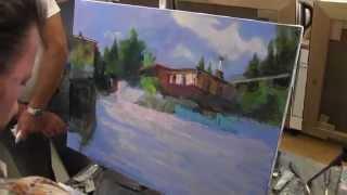 Красивый пейзаж, художник Сахаров, уроки живописи