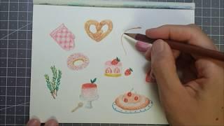 ASMR-색연필 드로잉,Colored pencil dr…
