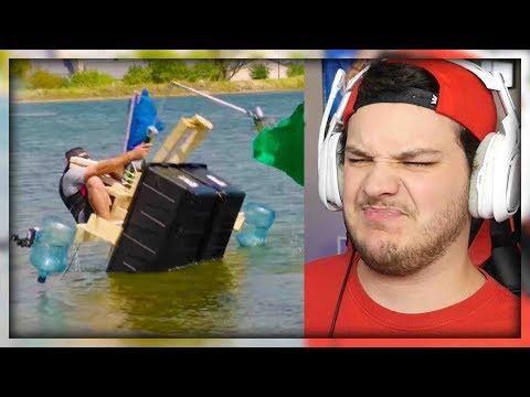 Build A Boat Battle | Dude Perfect - Reaction