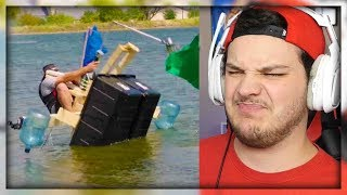 Build A Boat Battle | Dude Perfect - Reaction