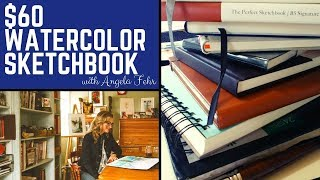 Is a $60 watercolor sketchbook worth the money? Reviewing two ETCHR sketchbooks for watercolor