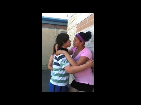 kid almost pukes after his first kiss..
