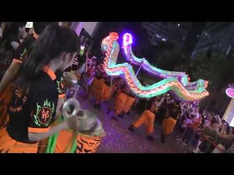 【LED Dragon Dance】《Kwok's Kung Fu & Dragon Lion Dance Team》@ Lee Tung Street 利東街 Sept-16-2016
