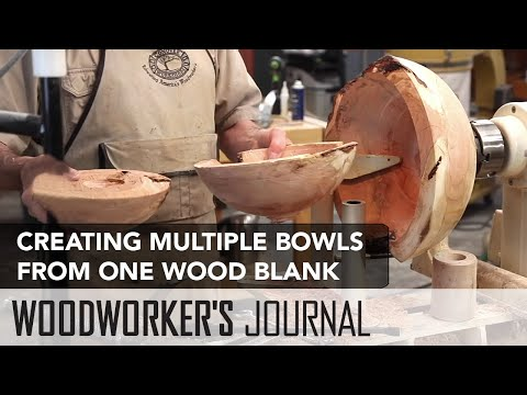 How to Core Several Bowls from One Wood Blank | Woodturning Project