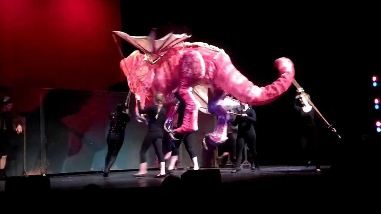 Shrek The Musical Dragon Scene Youtube