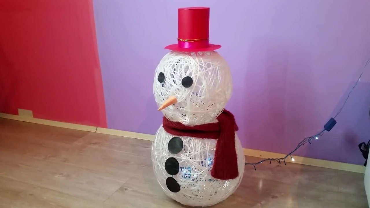 String Snowman Amazing Holiday Diy Projects Youtube