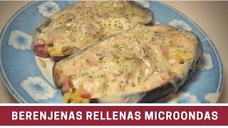 Berenjenas Rellenas al Microondas | Cocinar en Microondas