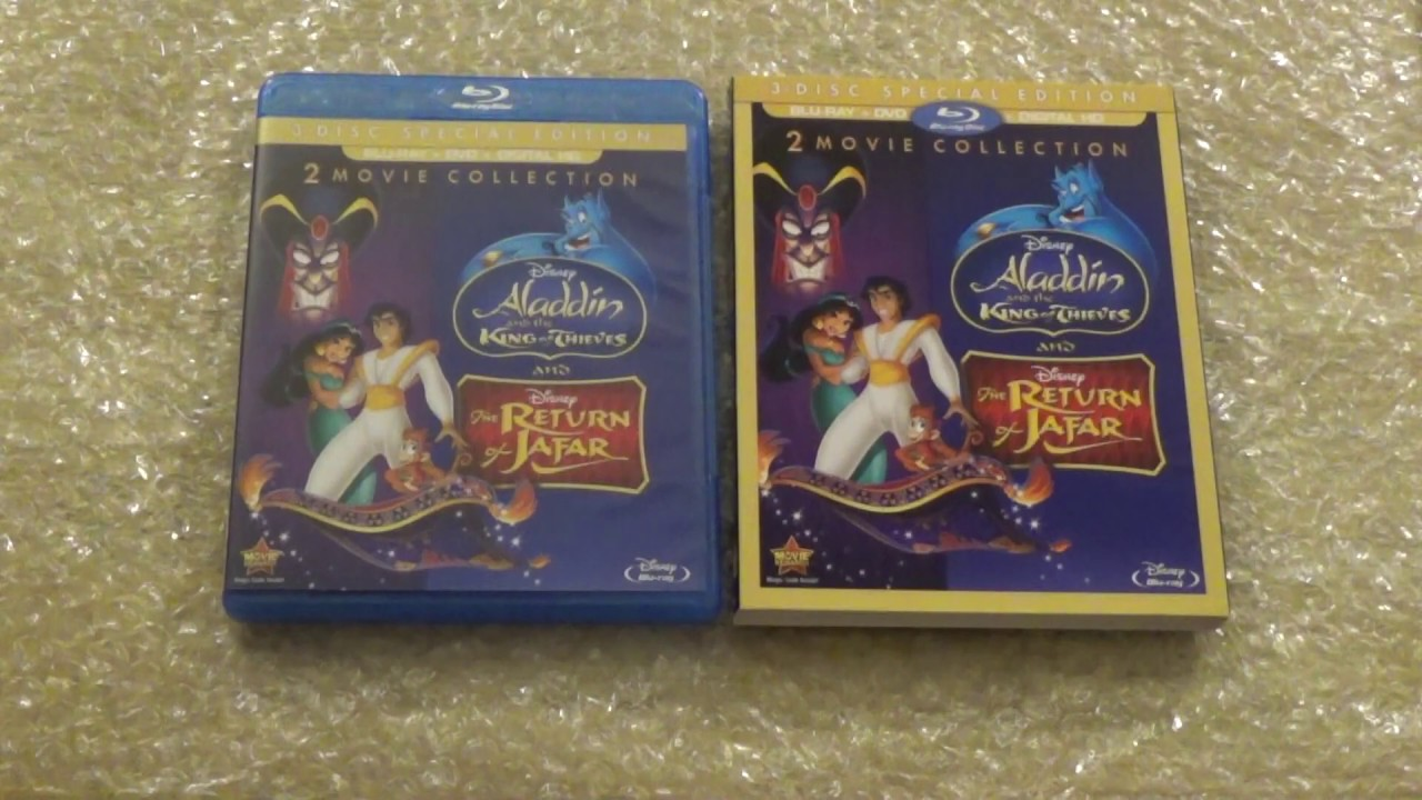 Download Unboxing Disney's Return of Jafar & Disney's Aladdin And The King of Thieves Bluray