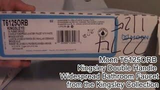 How to install the Moen T6125ORB Kingsley Double Handle Widespread Bathroom Faucet. #moen