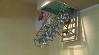 Чердачная лестница FANTOZZI ALLUMINIO MOTORIZATA(, 2014-12-26T06:21:33.000Z)