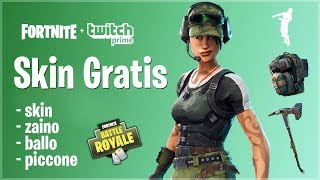 HOW TO HAVE THE SKIN NEW, ZAINO, PICCONE AND FREE WITH TWITCH PRIME!! FORTNITE ITA