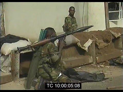ECOMOG Soldiers Patrol The Streets of Freetown, Sierra Leone | Jan. 1999