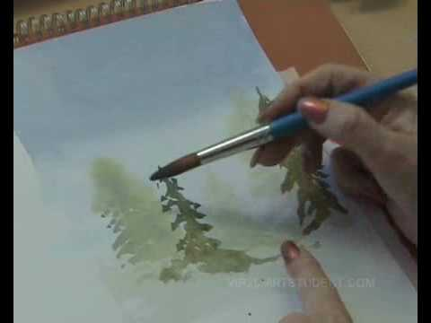 Learn How To Paint With Watercolours Wet Into Wet Youtube