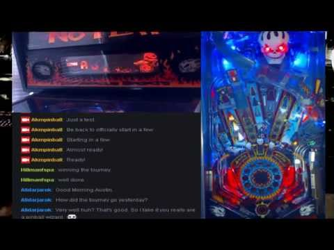 No Fear pinball machine live tutorial + gameplay (from live stream)