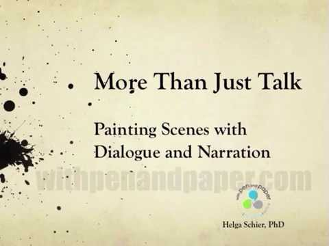 PREVIEW - More than Just Talk:  Painting a Scene with Dialogue and Narration