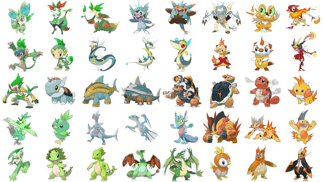 all starter pokemon evolutions type swap pokemon type swap