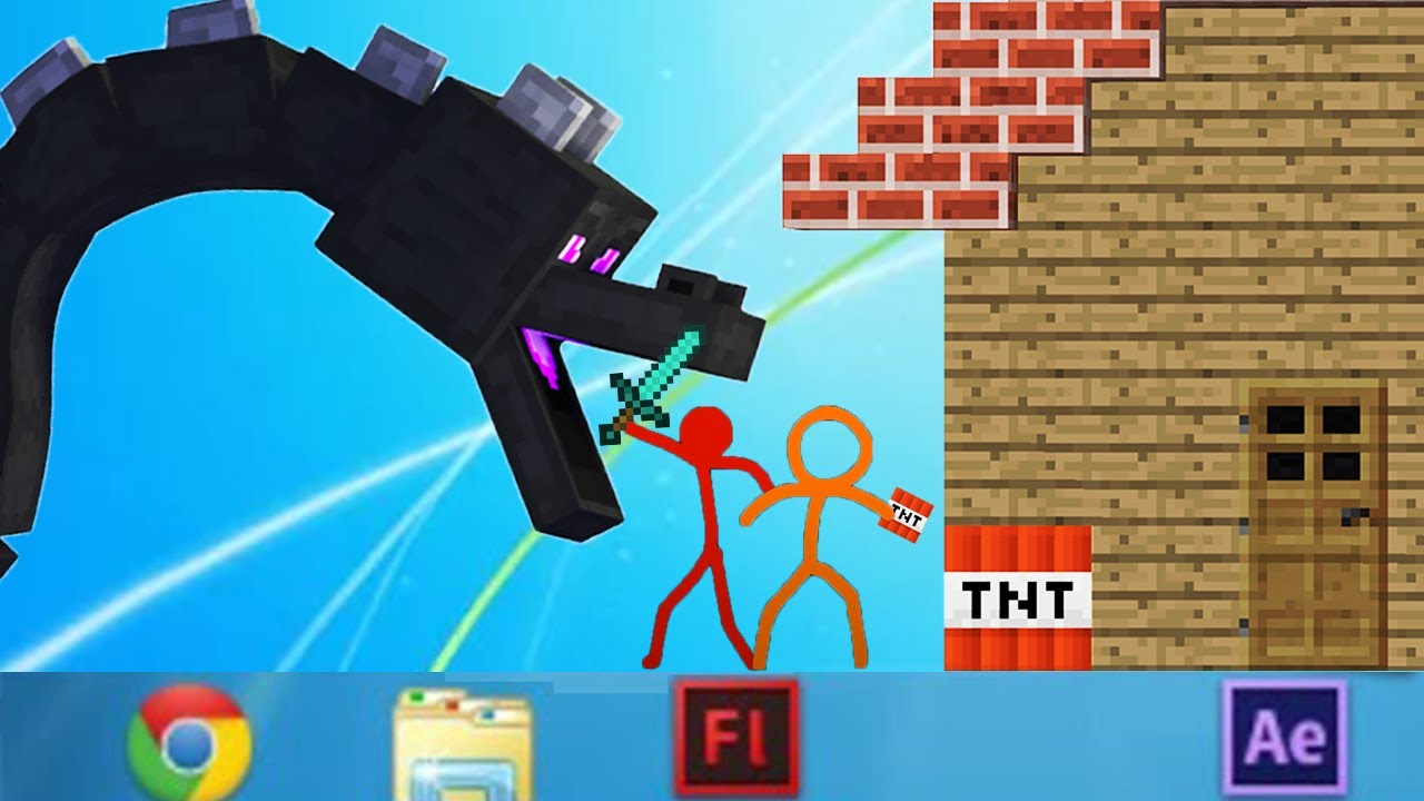 Minecraft VS Stickman Alan Becker Animation vs. Minecraft Shorts AVM Shorts (FAN MADE) Ep 18
