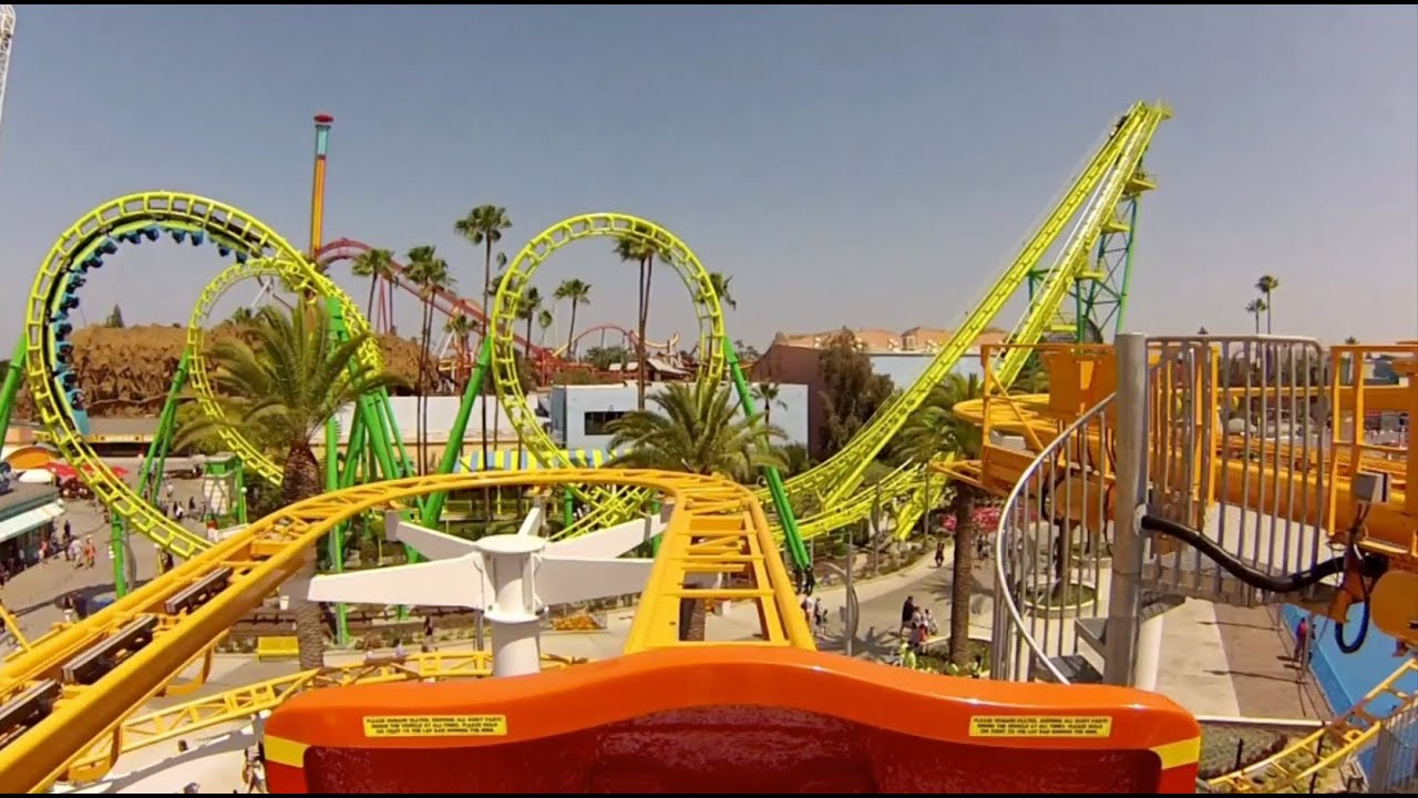 Knotts Berry Farm roller coasters in 4K // Fast Lane ... |Knotts Berry Farm Coasters