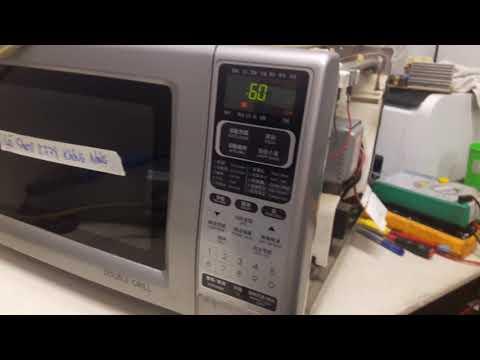 Sửa lò vi sóng sharp R778 hay hư hoạt động không nóng.(Fixing microwave  not hot) 0909106234