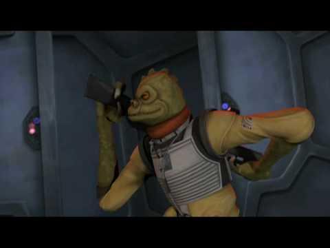 Bossk In Action Clone Wars Season Two Finale Promo